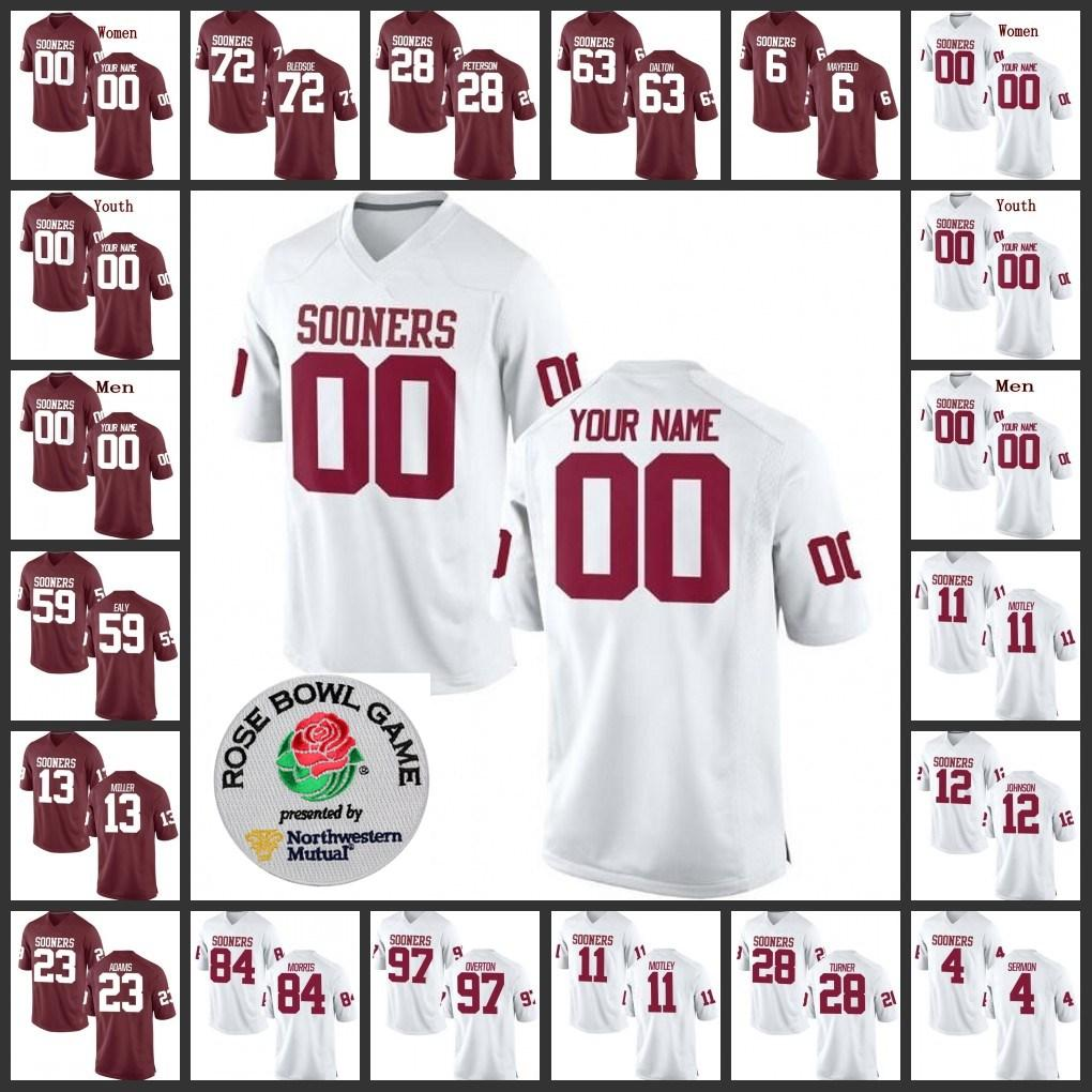 the latest 981ff 251de Oklahoma Sooners 13 Ahmad Thomas 63 Alex Dalton 50 Arthur McGinnis Antoine  Stephens kids Men's women youth College Football Stitched Jersey