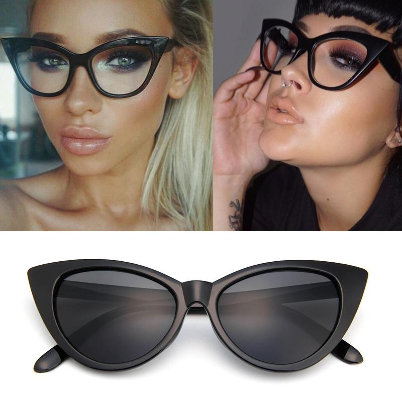 European and American Fashion Cat Eye Sunglasses Sexy Retro Glasses Tide 77042 Export Explosion Models Sunglasses