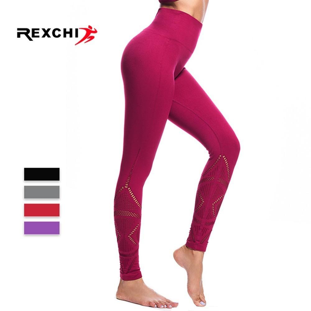 4b64bb7775dce 2019 REXCHI Women Yoga Pants High Waist Shark Foot Tights Sports Seamless  Legging Female Super Stretchy Gym Fitness Sportwear Pant From Jumeiluo, ...