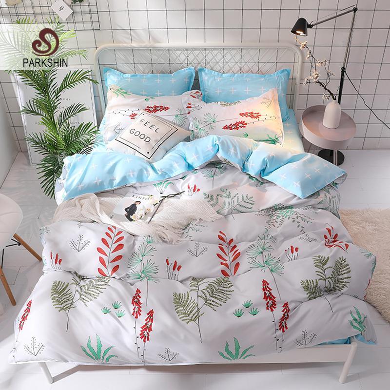 Parkshin Flowers Classic Bedding Set Home Textiles Fashion Print