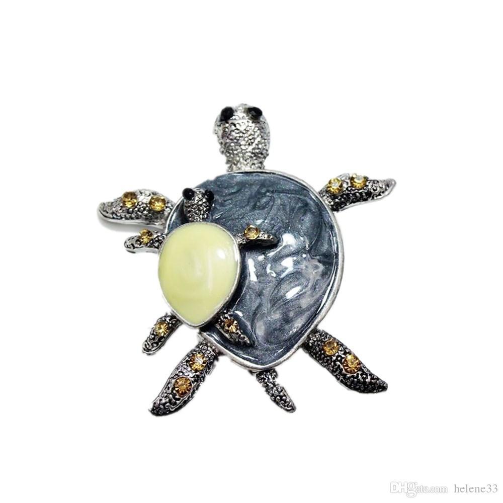 Vintage Cute Tortoise Turtle Brooches Women Men Scarf Collar Pins Corsage  Decoration Enamel Animal Brooch Jewelry Gift 10aa3609ba68