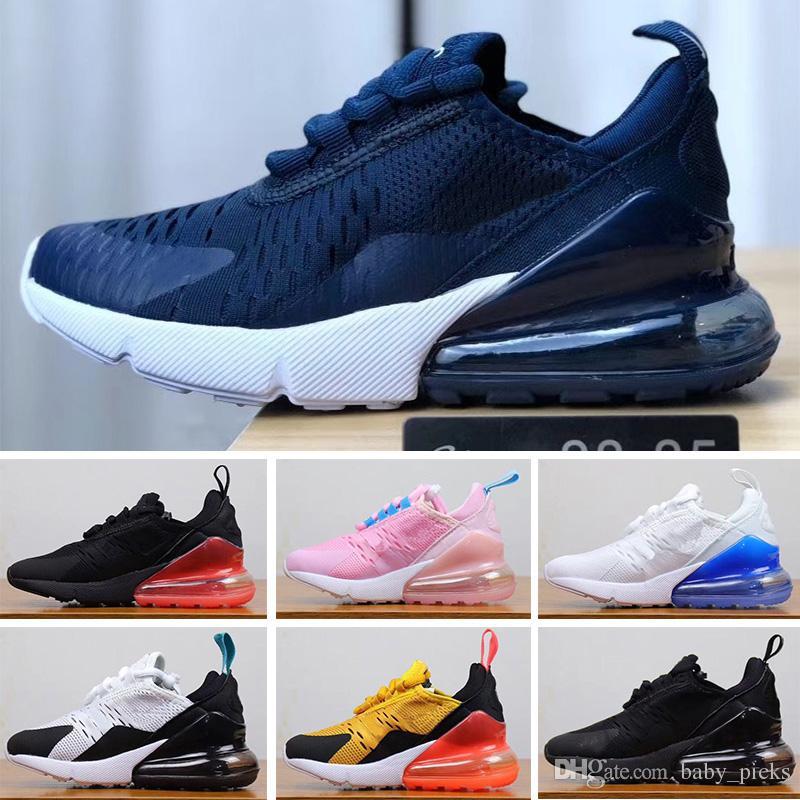 83368c7454d Acheter Nike Air Max 27c Marque Pas Cher Infantile 270 Enfants Chaussures  De Course Noir Blanc Poussiéreux Cactus 27c Outdoor Garçon Athlétique Garçon  Fille ...