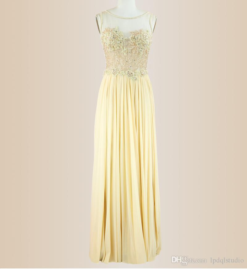 270f08e0f5 Daffodil Evening Dresses 2019 New Arrival Chiffon With Tulle Sparkling Beads  Sequins Scoop Zipper Back Long Prom Dresses Stunning Evening Dresses White  ...