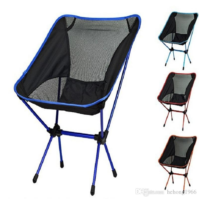 Outdoor Folding Chair Portable Fishing Stool Ultralight Camping Festival Picnic BBQ Beach Colors Mix Convenient 65ld F1