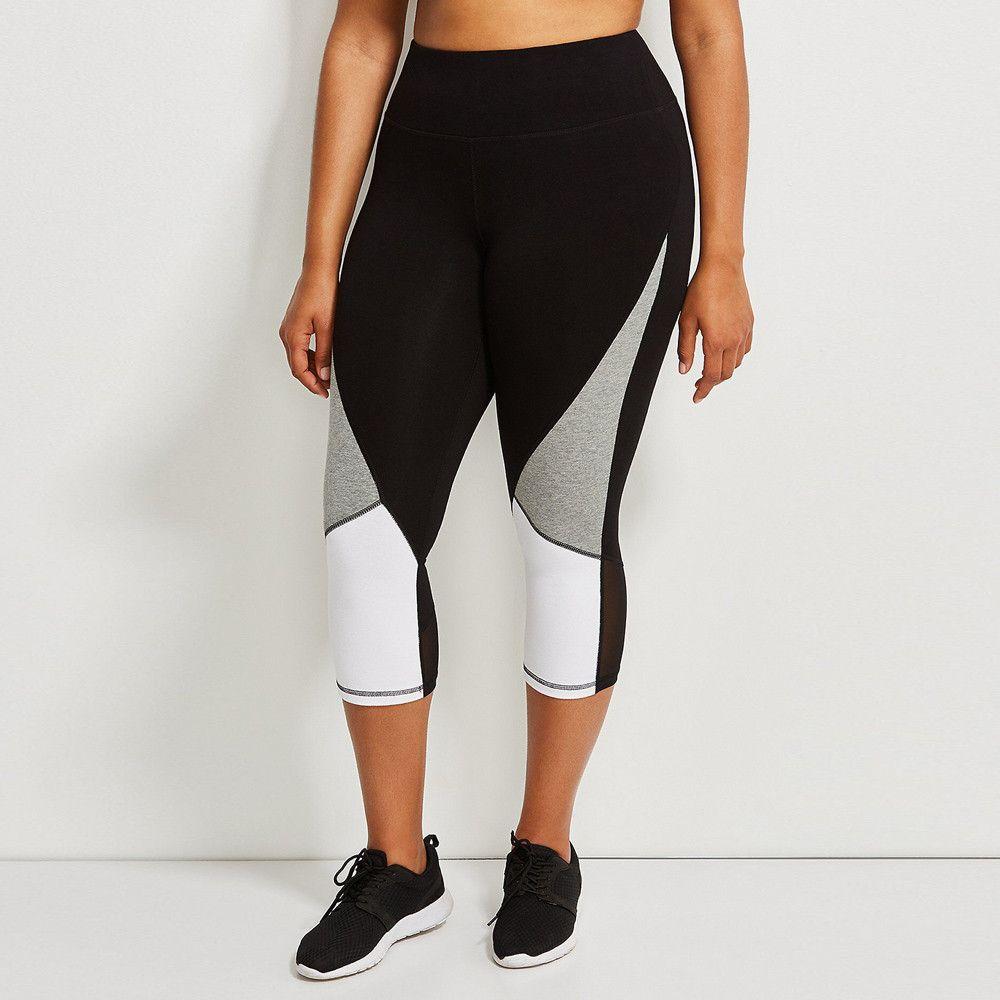 Frauen Plus size Sportbekleidung Hit Farbe Splice Damen Weibliche Sport Workout Laufen Fitness Elastische Leggings