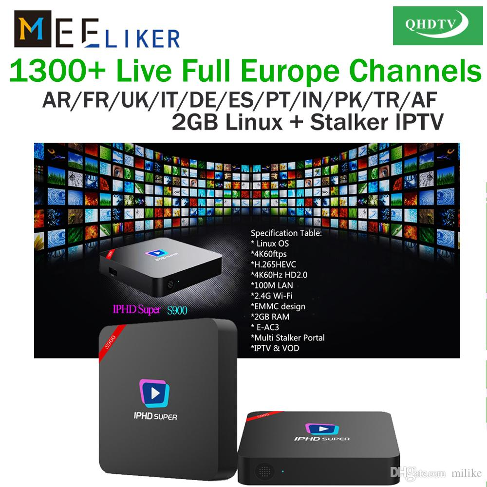 Stalker IPTV set top box Linux S900 3 6 12 Months QHDTV Arabic Sports IT UK  DE 1300 Europe Arabic Channels IPTV Account Apk VS MAG 254