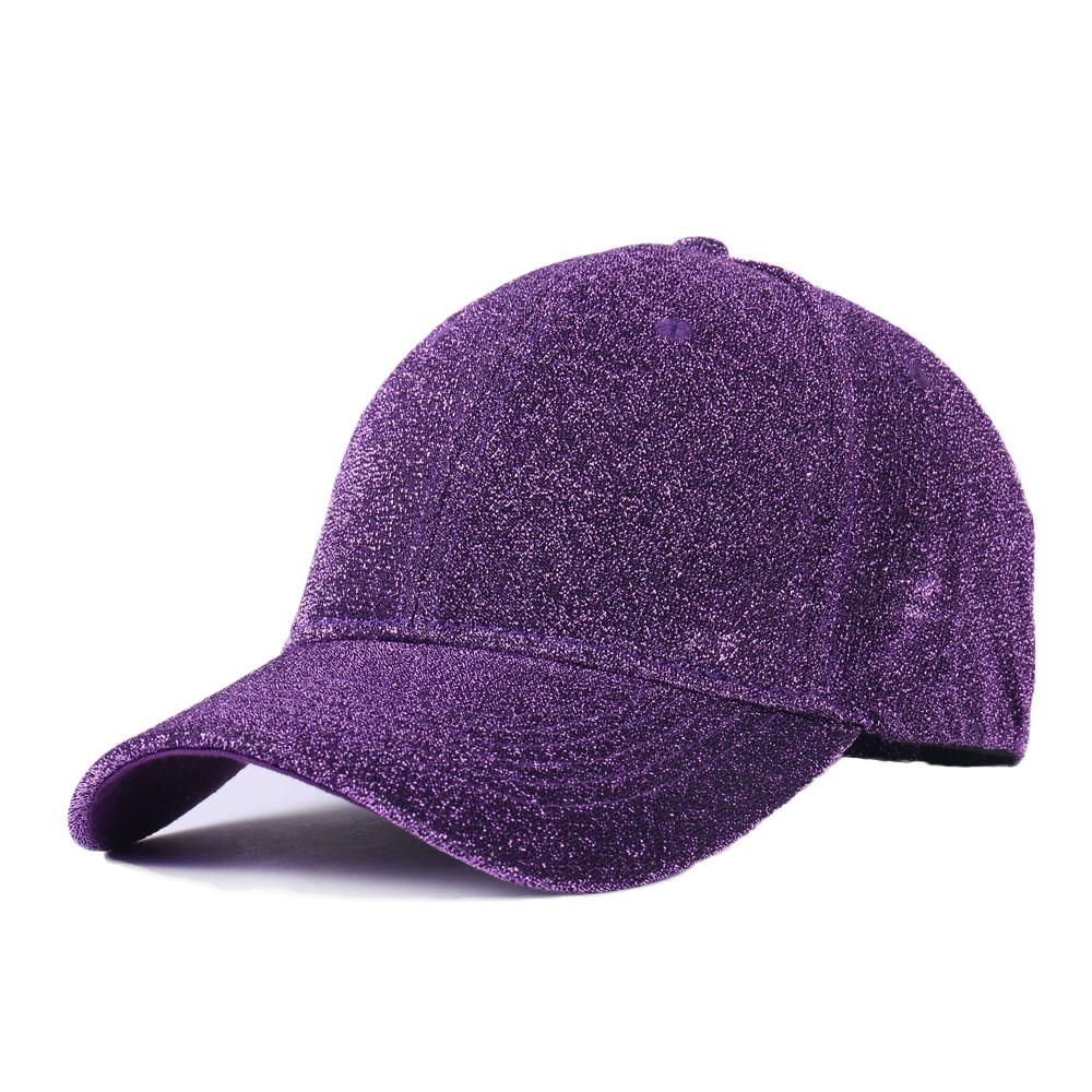 abbf73030bb9a Solid Laser Super Glitter Ponytail Branded Baseball Cap Women Snapback Hip  Hop Caps Female Sequins Shine Summer Hats Bone Men Custom Hats Mens Hats  From ...