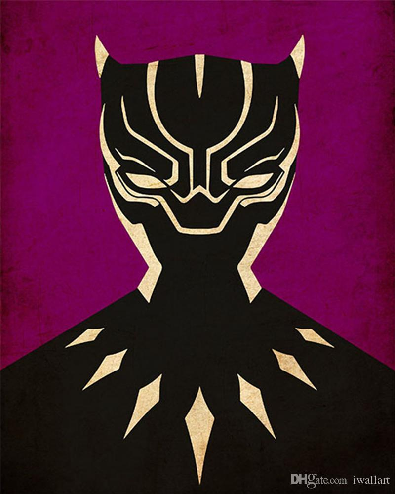 994cf8ca194ce Minimalist black panther mask Art Canvas Painting HD Wall Picture Poster  And Print Decorative Home Decor