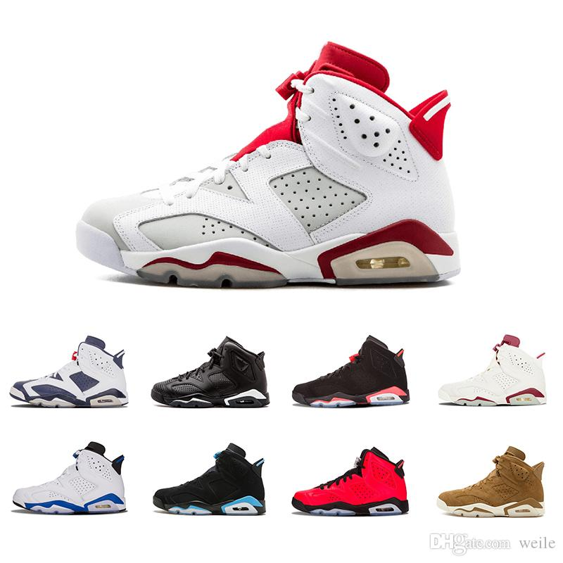 c5cbdda0bff5 2019 Men 6 6s Black Cat Basketball Shoes Angry Bull Oreo Carmine Alternate Trainers  Sneaker White Infared Olympic Mens Designer Sports Sneakers From Weile