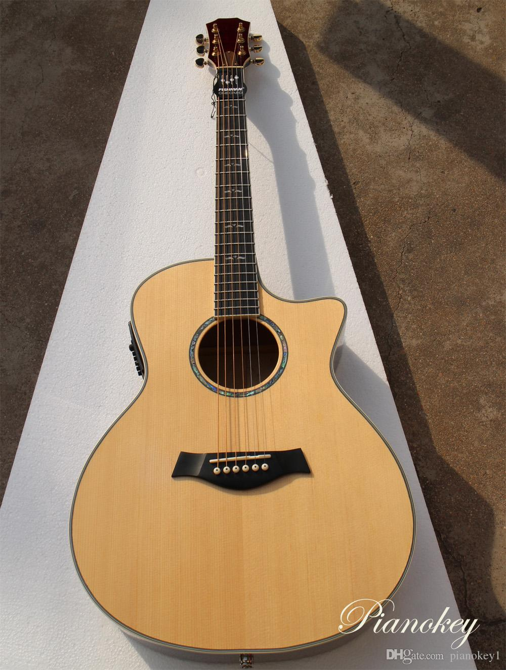 41 Inch Transparent Wood Color Cut Away Guitar Acoustic Customize
