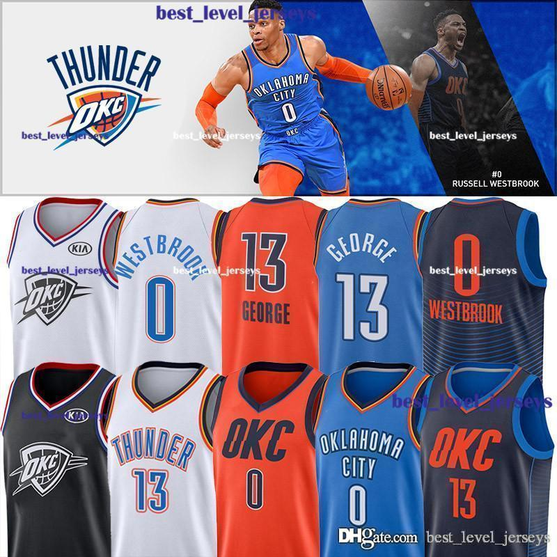 best service fe187 68a02 hot sale Thunder Russell 0 Westbrook jerseys Westbrook jersey Paul 13  George jersey earned edition Carmelo 7 Anthony Mens&youth