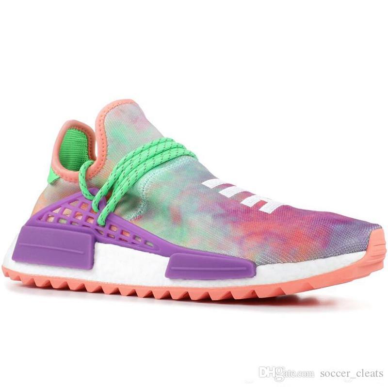 82e39267c 2019 PW Human Race Hu Trail X Mens Running Shoes Pharrell Williams Nerd  Black White Cream Tie Dye Sun Glow Womens Trainers Sports Sneakers From ...