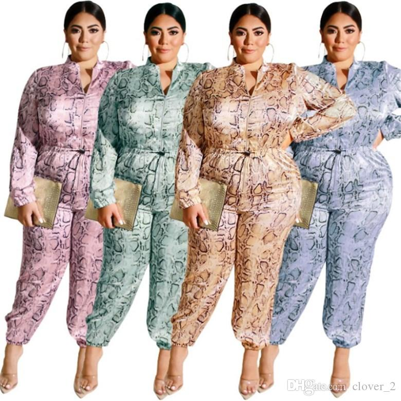 Women designer jumpsuits rompers one piece pant autumn winter plus size playsuit new hot selling sexy leopard womens clothing klw2313