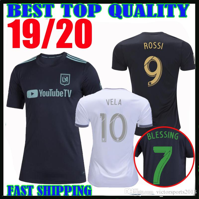 info for 56986 44fd2 2019 LAFC soccer jerseys Carlos Vela home away 19 20 MLS Parley Los Angeles  FC ROSSI Horta BLESSING FEILHABER football shirts SIZE S-XXL