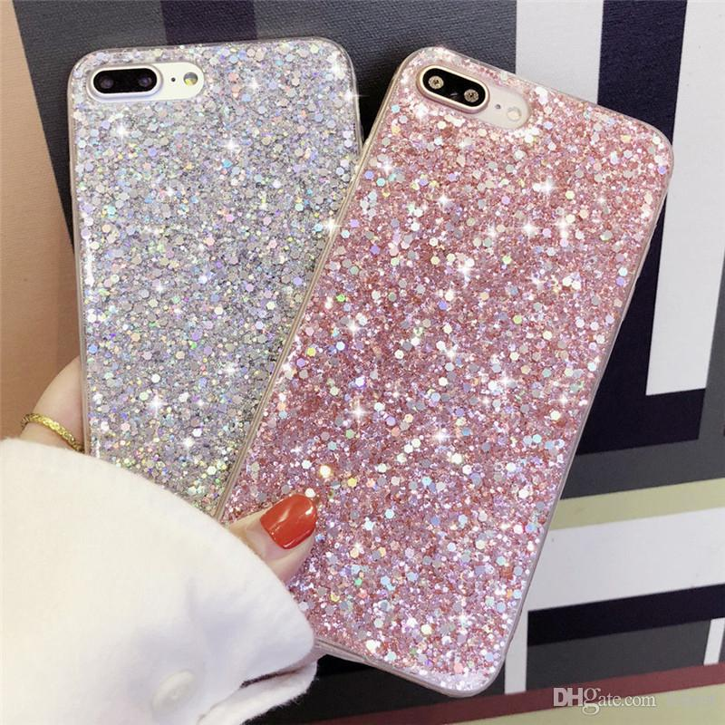 For iPhone XS MAX Case Shinning Bling Glitter Sparkle Protective Cover Designer Phone Cases For iPhone XR X 8 7 6 Plus