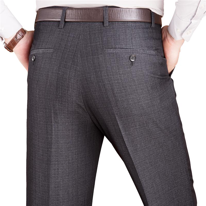 d433950845 Pantaloni tuta da uomo Pantaloni da ufficio classici di lana larghi e  dritti da ufficio per uomo Abito estivo Plus taglia 42 44