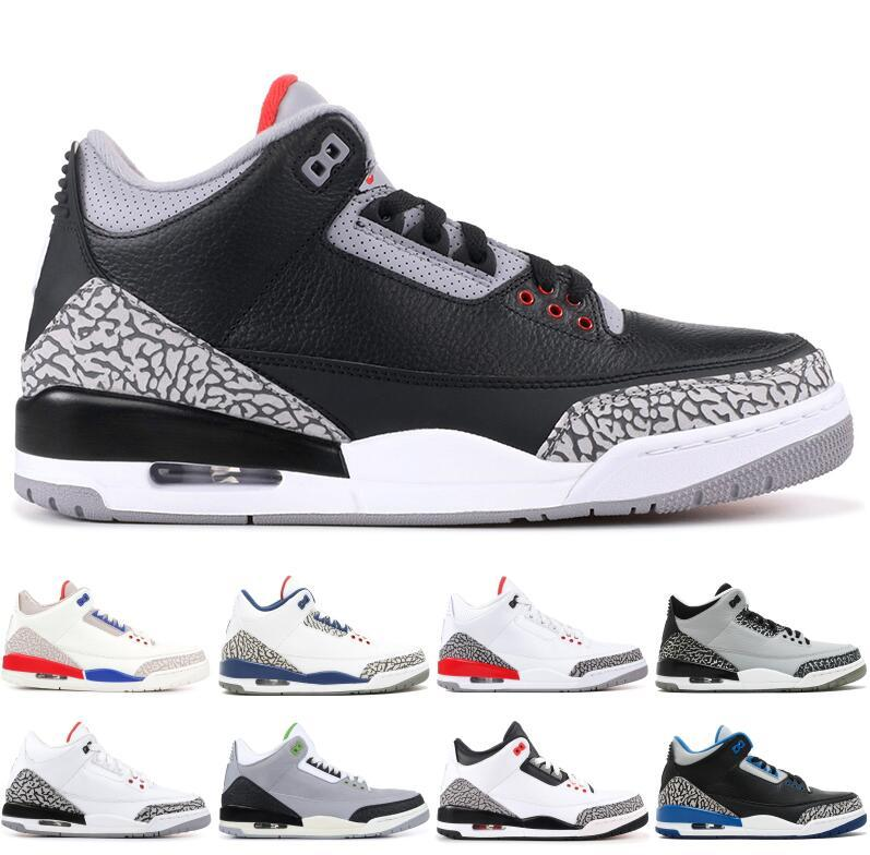 the latest 78e93 c5449 Luxury Designer 3 Men Basketball Shoes Charity Game Black White Cement  Cyber 54 Fire Red Jumpman 3S Outdoor Trainers Sports Sneakers
