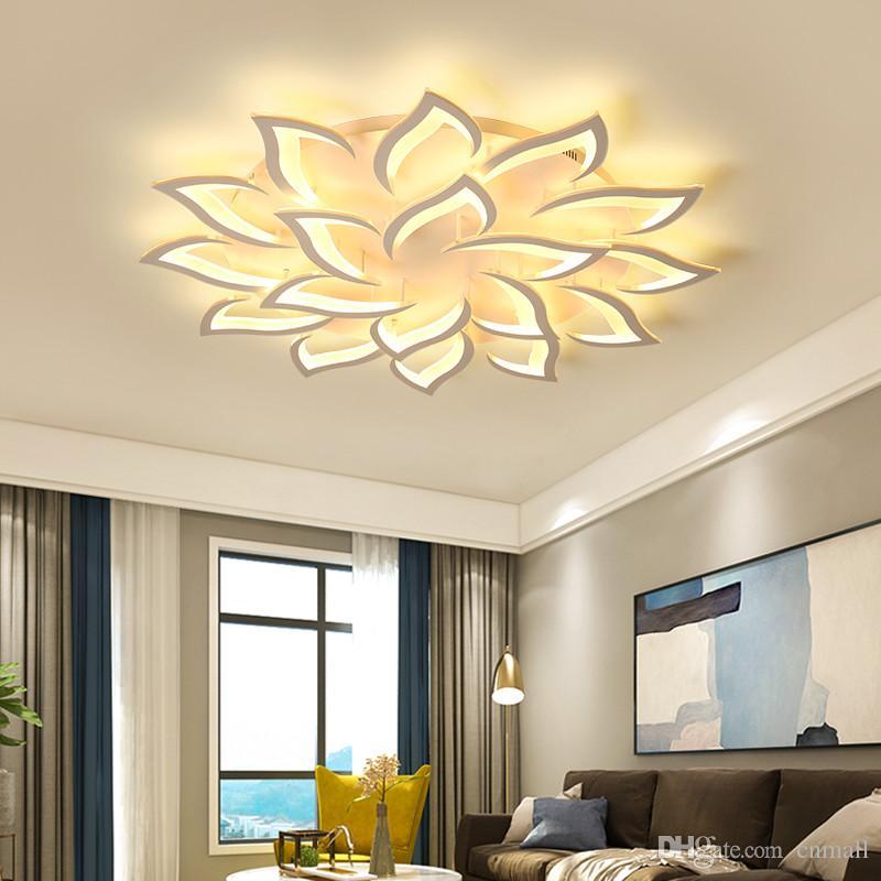 Deckenleuchten & Lüfter Moderne Led Kristall Deckenleuchte Licht Mit 8 Lichter Für Wohnzimmer Beleuchtung Für Zuhause Lustre De Sala Kostenloser Versand Deckenleuchten Leuchte
