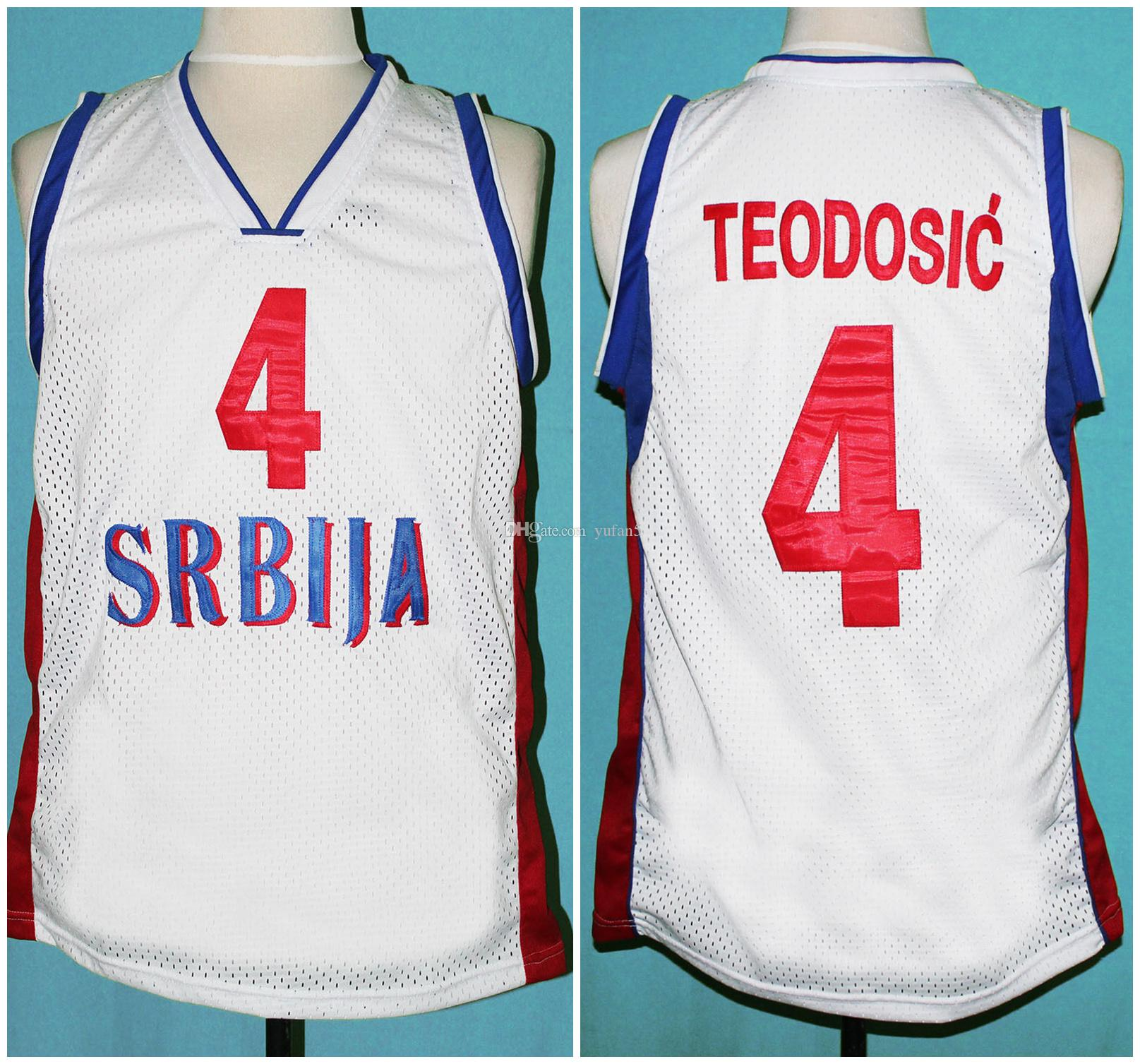 Serbia Teodosic4 Srbija 2019 Team Retro Jerseys Basketball Milos gvf7bY6y
