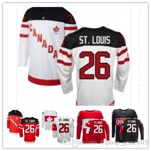 2018 Can Team Canada Jerseys  26 Martin St. Louis Jerseys Men WOMEN YOUTH Men s  Baseball Jersey Majestic Stitched Professional Sportswear Online with ... 423cbfa87
