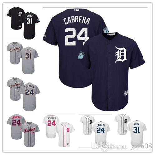 best service d9708 d873c Cabrera Detroit Women Jerseys S Miguel Alex 31 24 Youth Men ...