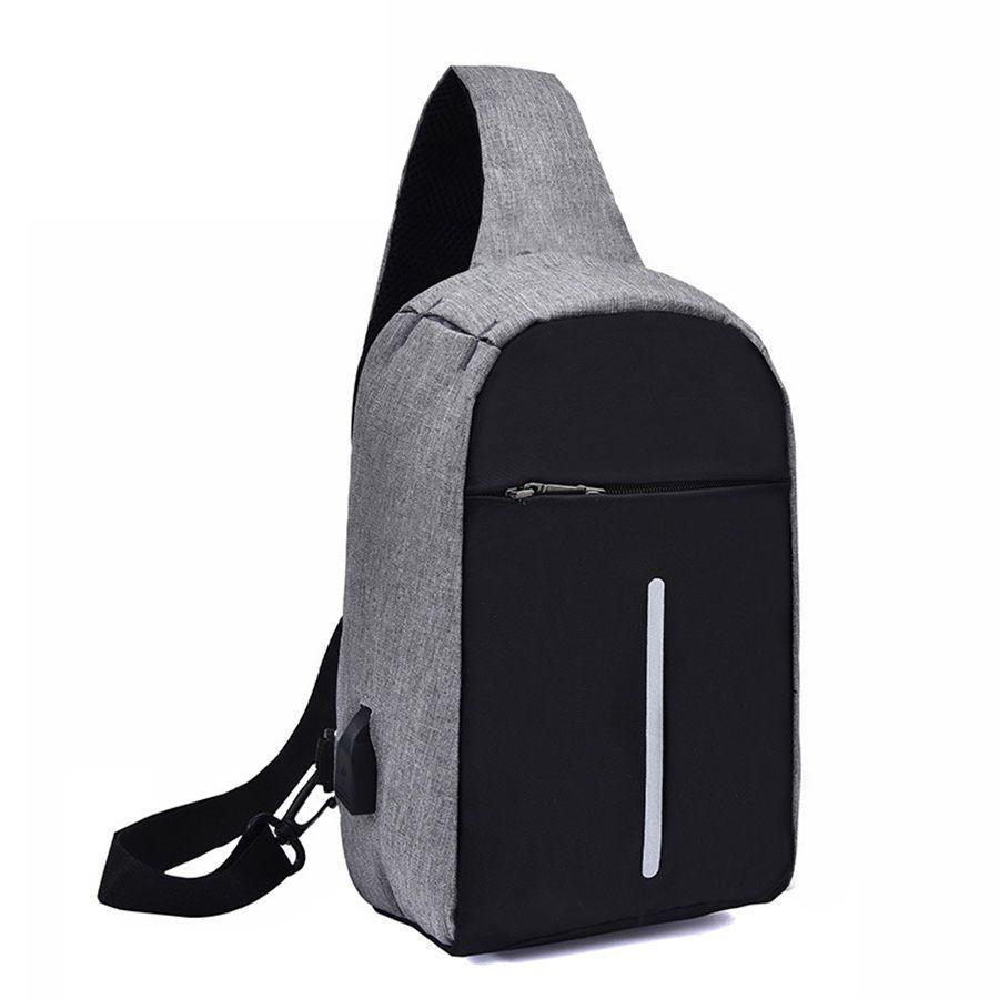 18be4584d4 Anti Thief Men Chest Bag Usb Charging Men Messenger Bag Oxford Waterproof Men S  Crossbody Bags Reflective Strip Males Bags 2019 Bags For Women Cheap ...