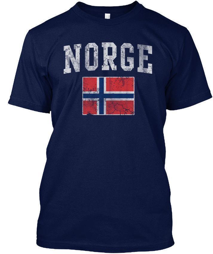 Quality Vintage Norge Norway Bandiera norvegese - T-shirt senza maglietta Hanes Hanes