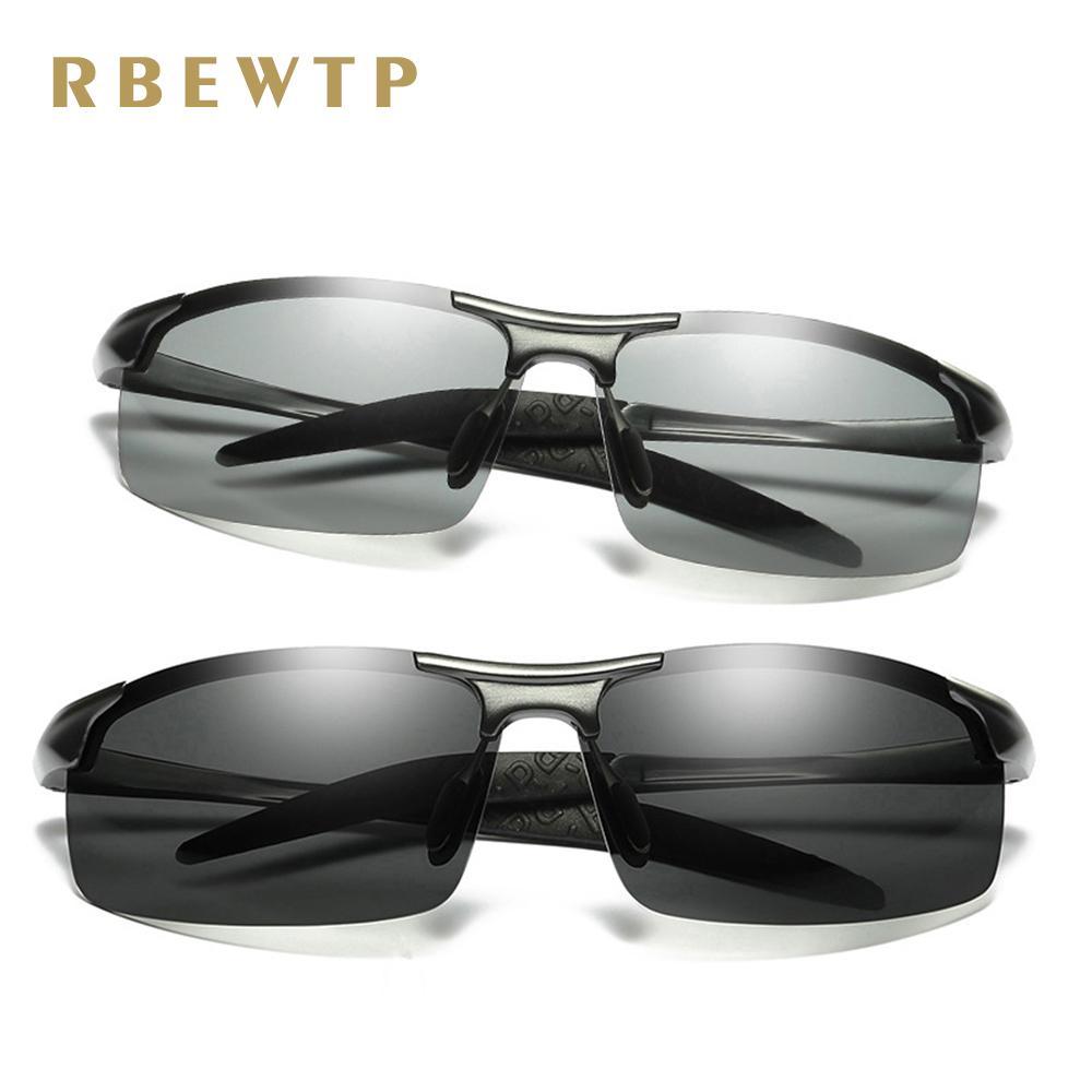 Compre Gafas De Sol Fotocrómicas Polarizadas RBEWTP Hombres Aluminio ... 01bb04dc520b