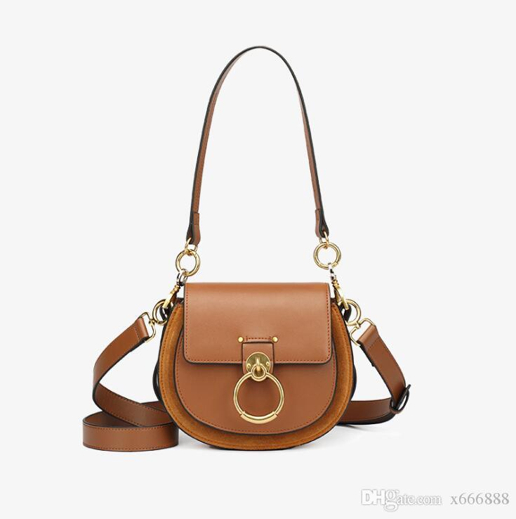 Hot Sale Female Handbags High Quality Genuine Leather Women Shoulder Bag  Metal Ring Designer Ladies Small Crossbody Bag 2018 Fashion Bags Designer  Handbags ... 1eda76154a08e