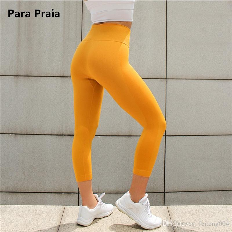 3d0e52c9076c1 2019 High Elastic Yoga Pants Sports Running Sportswear Stretchy Fitness  Leggings Seamless Tummy Control Gym Compression Tights Pants  761686 From  Feiteng004 ...