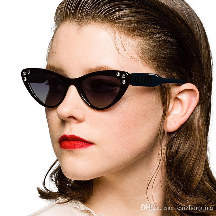 ec710c724875b Compre 2019 Nova Moda Olho De Gato Óculos De Sol Broca Pequena Caixa De  Óculos De Sol Personalidade Europa E América Transfronteiriça Tendência  Óculos De ...
