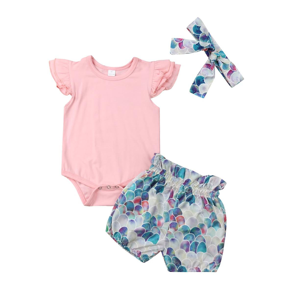 305bed59e2ab Newborn Baby Girl Summer Outfits Clothes Tops Sleeveless Solid ...