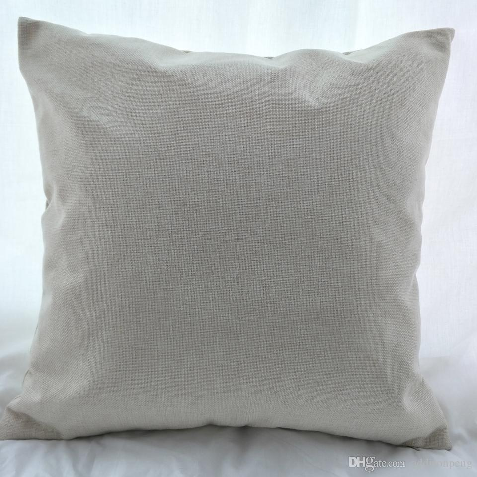 16x16 Inches Natural Poly Linen Pillow Case Blanks For Diy
