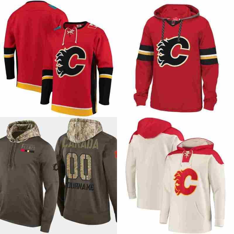 reputable site 48e28 c55ea Calgary Flames hoodies Mark Giordano James Neal Johnny Gaudreau Sean  Monahan Jaromir Jagr Hockey Jersey Sweatshirt stitched
