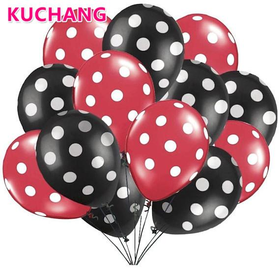 Hot Sale 10pcs/lot 12inch Latex Balloons Polka Dot Inflatable Air Ballons For Wedding Birthday Party Decor Event Supplies Globos Balls Festive & Party Supplies Event & Party