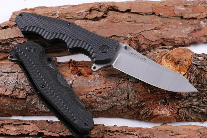 "Free DHL Survival gear Fox Tactical Flipper Folding Pocket Knife 2 Styles 8.58"" 5CR15MOV 57HRC Dteel Blade Outdoor Utility Knives P161F"
