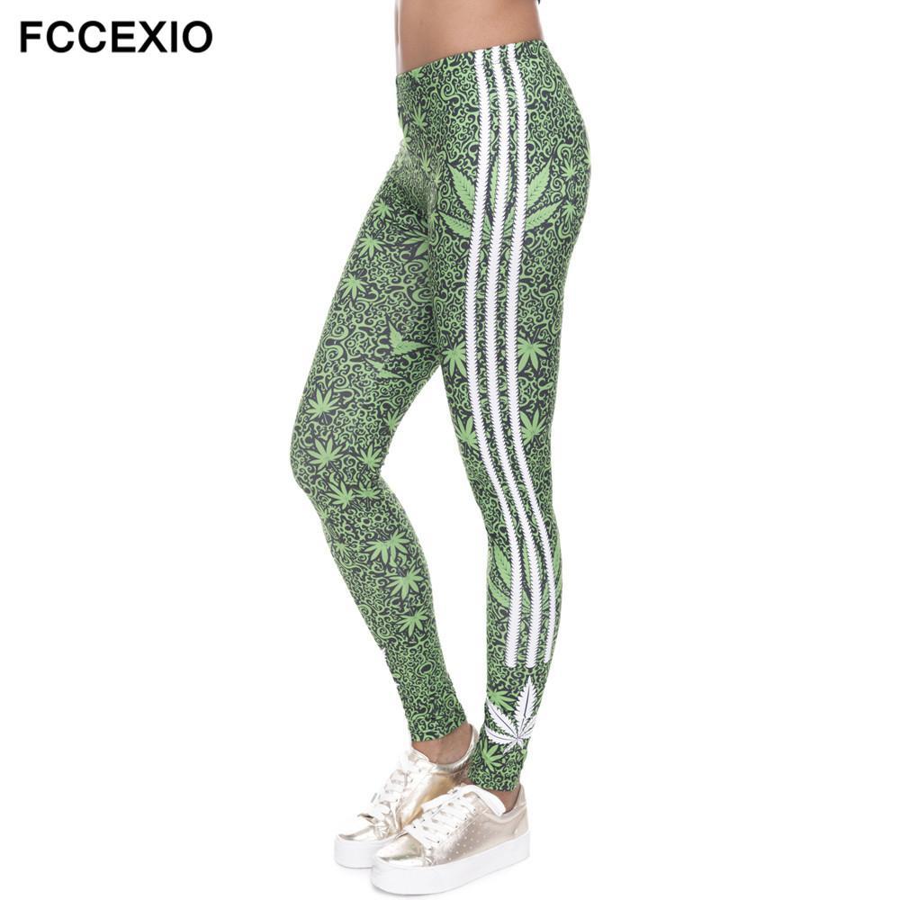 508961d366ec26 2019 FCCEXIO VIP 3D Leggings White Stripes Printing Fitness Legging Sexy  Silm Legins High Waist Trouser Women Pants From Insightlook, $41.68 |  DHgate.Com
