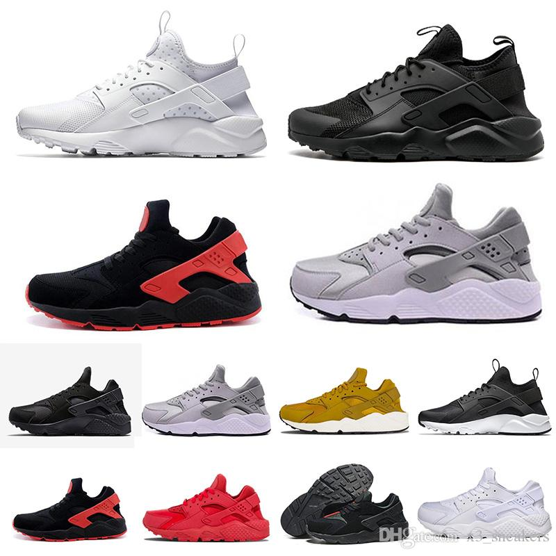 quality design 2d935 01ce4 2019 Air Huarache 1.0 4.0 Men Running Shoes Stripe Red Balck White Rose  Gold Women Designer Shoes Sport Sneakers 5.5 11 Best Running Shoe Neutral  Running ...