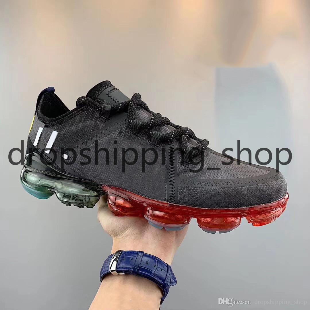 CPFM x Nike Air VaporMax 2019 da corsa per uomo NERO RIFLETTENTE statico True Form CLAY HYPERSPACE Antlia ZEBRA Glow donna sneakers sportive di design