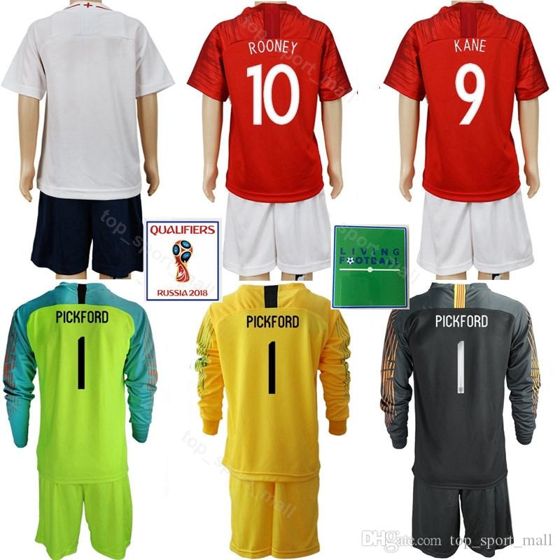 e73c4bebe 2019 Youth Football Jerseys Set Soccer 2018 World Cup 5 STONES WALKER 9  HARRY KANE STERLING WELBECK 10 ROONEY Shirt Kits Kids With Short From  Top sport mall ...