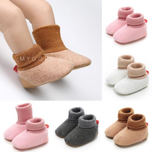 Newborn Toddler Baby Boys Girls Winter Warm Snow Boots Infant Polyester Soft Sole Slipper Crib Shoes Suitable For 0-18 Months