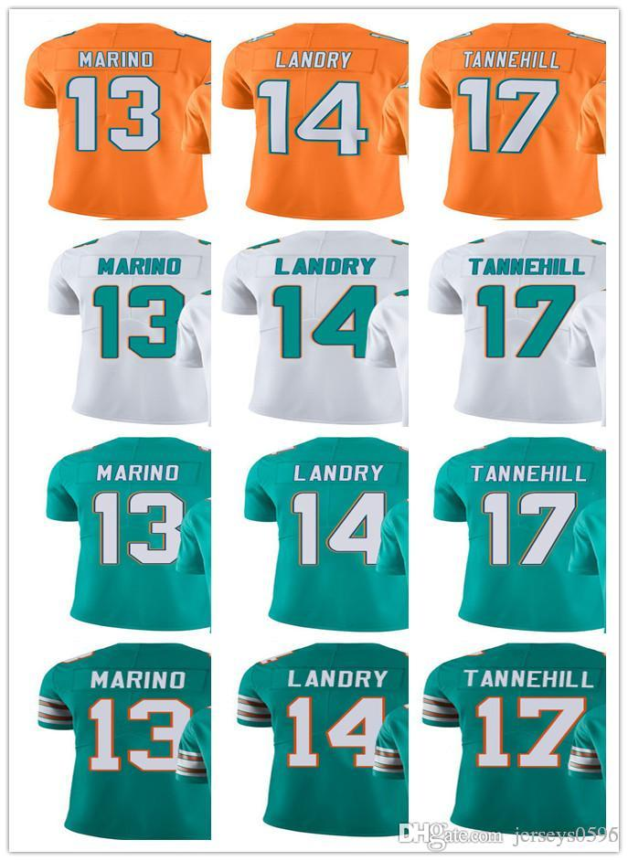 pretty nice 5b3ee 8fc6f Miami Men Women Youth Dolphins Jersey #14 Jarvis Landry 13 Dan Marino 17  Ryan Tannehill Green Orange Vapor Limited Jerseys