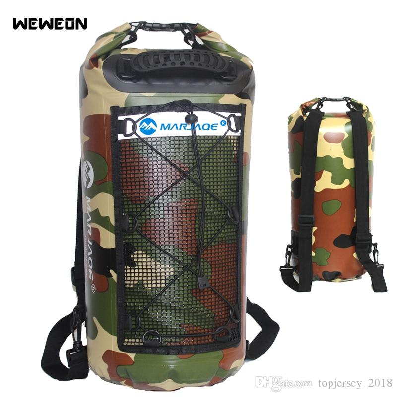 b881083e665a 25L Waterproof Swimming Bags Mesh Storage Dry Sack Bag For River trekking  Rafting Outdoor Camouflage Swimming Backpack Kit Pack #234650