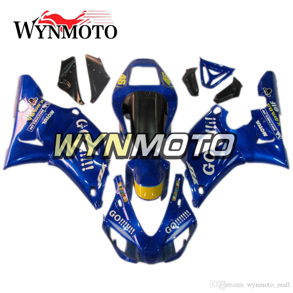 Complete Motorcycle Bodywork Kit ABS Injection Bodywork For Yamaha YZF1000  R1 Year 1998 1999 Complete Fairing Kit Body Frames Blue GO!!!