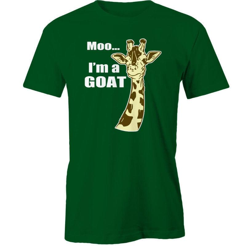 653c7168 Moo, Im A Goat T Shirt Giraffe AnimalFunny Unisex Casual Top Patriotic T  Shirts Funny Tshirt From Afterlightclothing, $12.96  DHgate.Com