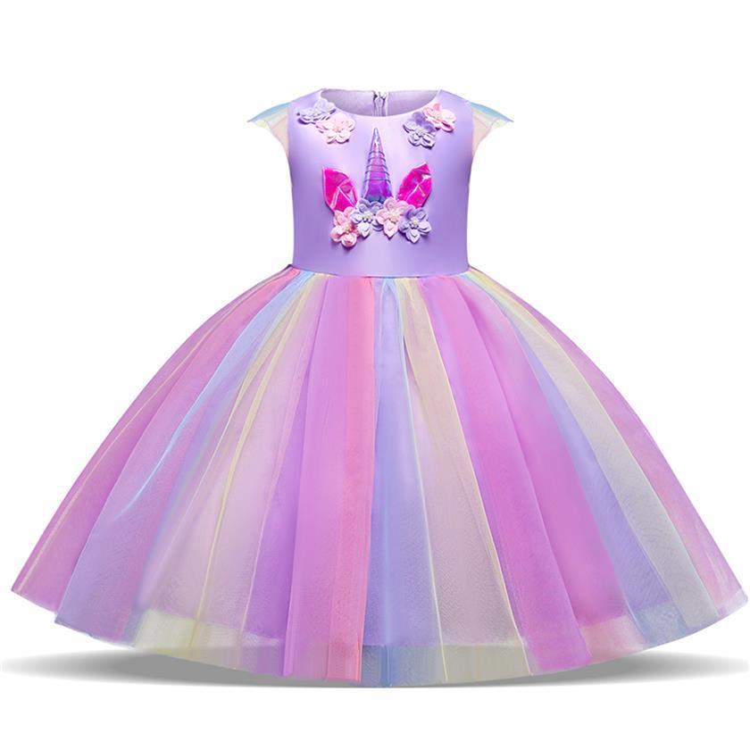 c8708dae232ac Acheter Nouvelle Licorne Robe Pour Filles Broderie 6 Ans Costume Enfant  Adolescent Princesse Robes Robe De Bal Cosplay Halloween Fille Vestidos De  $8.69 Du ...