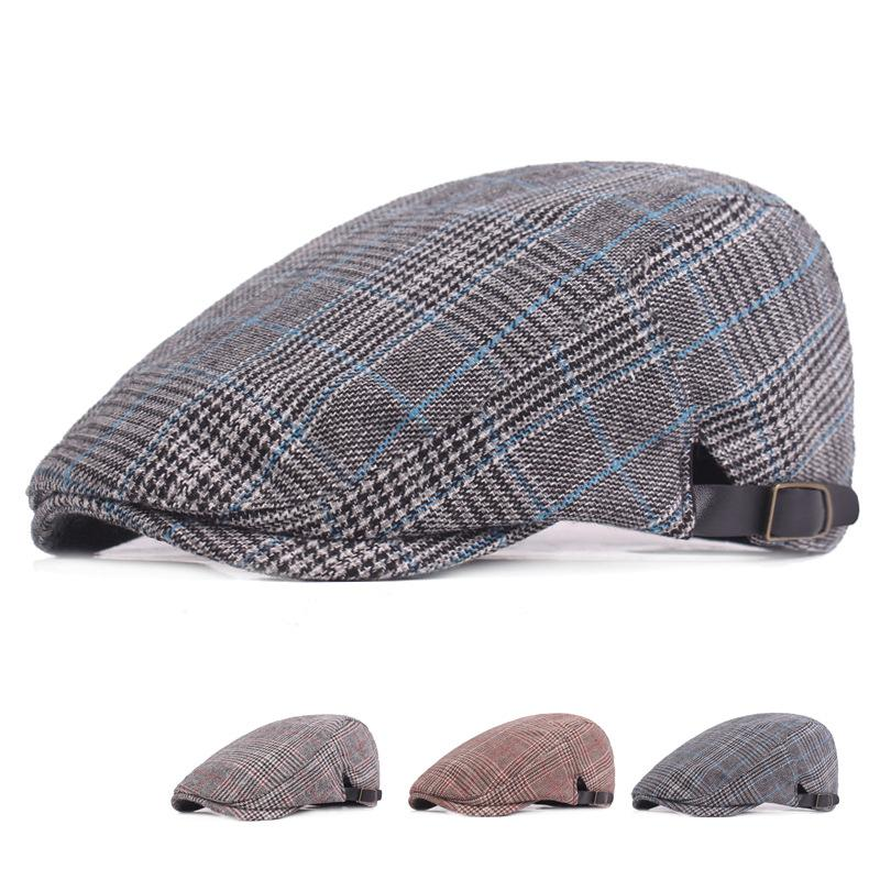 1d3e8826698 High Quality 100 % Cotton Newsboy Gatsby Cap Cabbie Driver Newsboy Ivy Cap  Plaid Men Women Young Artistic Berets Online with  8.58 Piece on  Gslyy0712 s ...