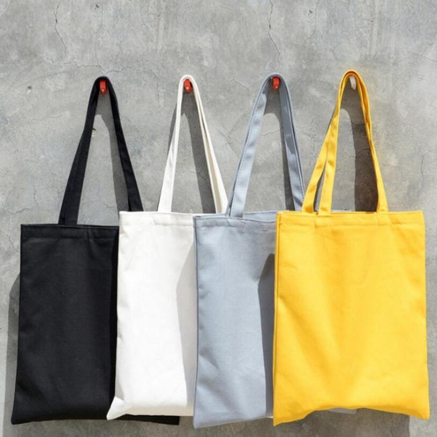 2c08738ef2b Blank Painting Folding Fashion Shopping Bag Tote Reusable Eco Bag Canvas  Tote Bag Grocery Handbags 7ColorsLJJS112
