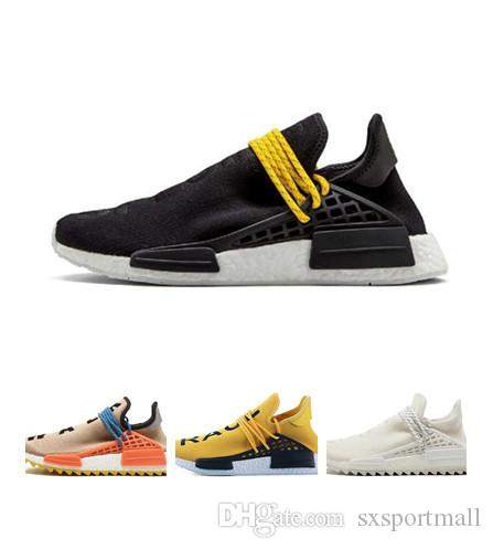 cb651a7fb 2019 Hot Sale Human Race Hu Trail X Pharrell Williams Nerd Men Running  Shoes White Equality Mens Trainers For Women Sports Shoes Size 36 47 From  Sxsportmall ...