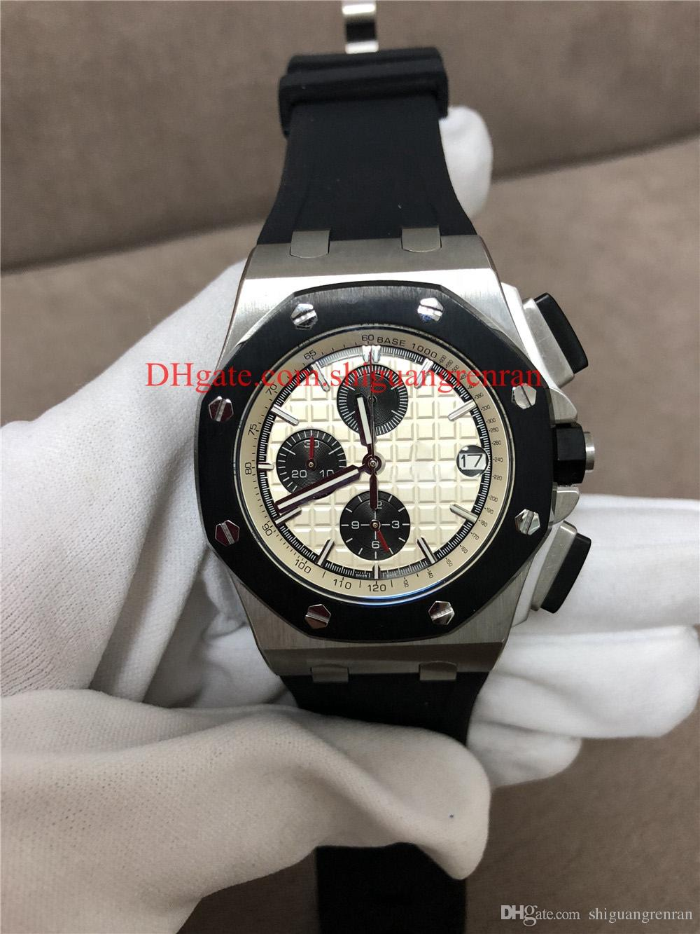 b3e5442c6b3 Luxury Brand Men Rubber Band Big Dial Military Watches Royal Oak Offshore  Sports Mens Watch Chronograph Stopwatch Man Quart Wristwatches Sport Watches  ...